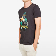 TOUCAN CREW NECK T-SHIRT  CHARCOAL  hi-res