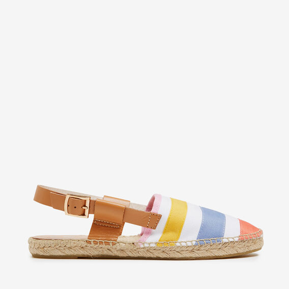 STRIPE SLING BACK ESPADRILLES  WHITE MULTI  hi-res