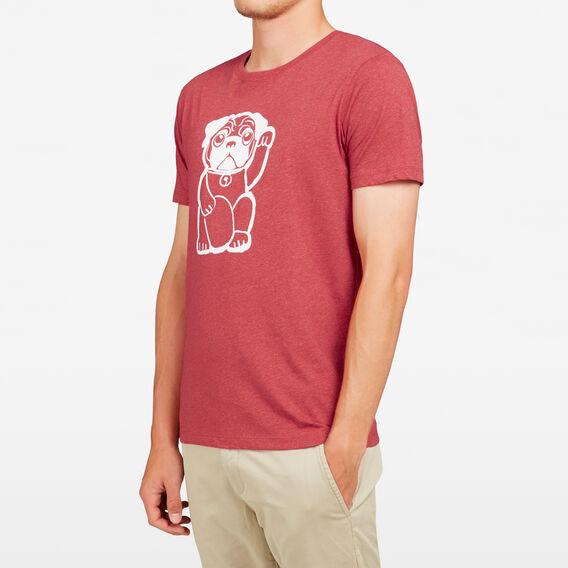 FORTUNE DOG T-SHIRT  RED MARLE  hi-res