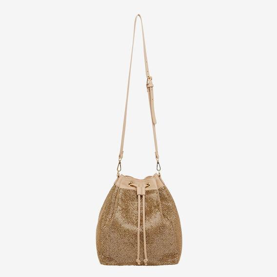 LARGE SPARKLE BUCKET BAG  ROSE GOLD  hi-res