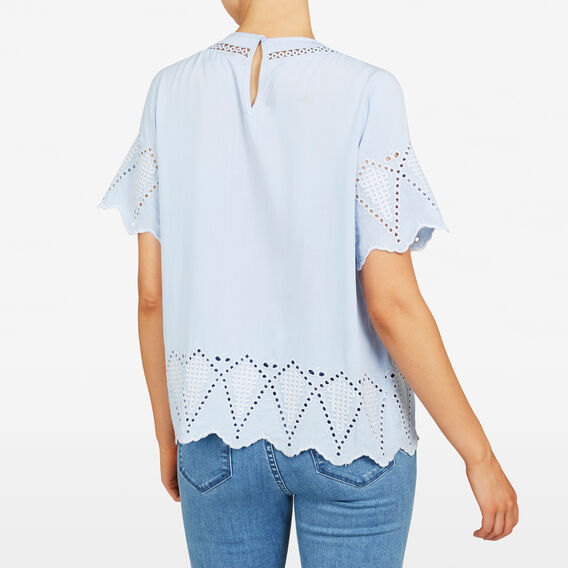 BABYDOLL BROIDERIE SHIRT  LIGHT BLUE  hi-res