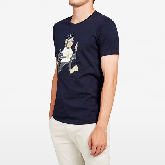 CHEEKY MONKEY T-SHIRT  MARINE BLUE  hi-res