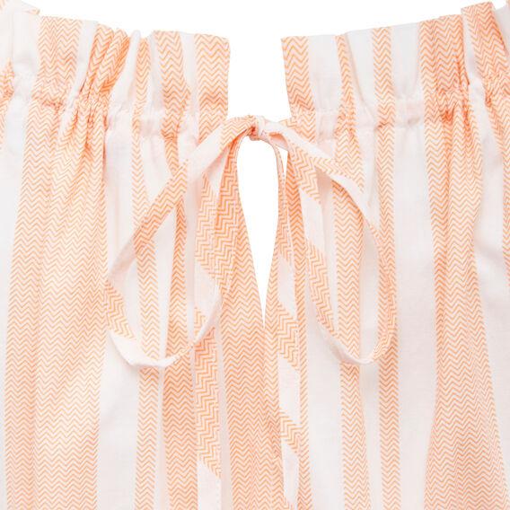 CHEVRON STRIPE DRESS  SUMMER WHITE/PAW PAW  hi-res