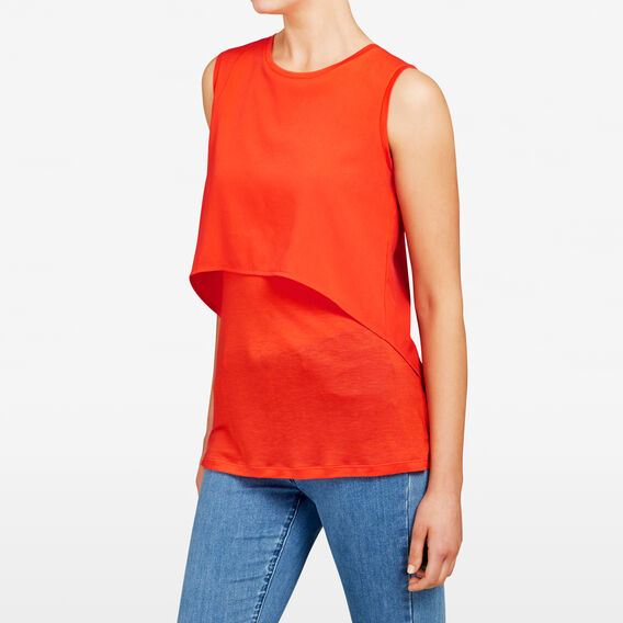 SPLICED LAYERED TANK  SAIL RED  hi-res