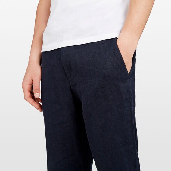 NORTH SHORE LINEN BLEND PANT  OXFORD BLUE  hi-res