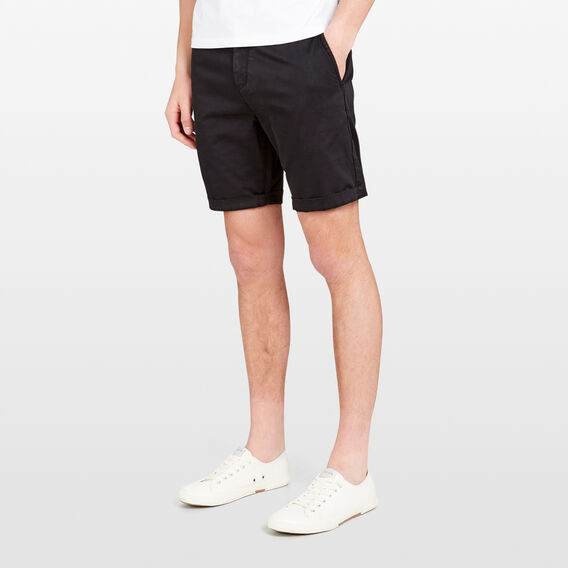 CHARLIE STRETCH CHINO SHORT  BLACK  hi-res