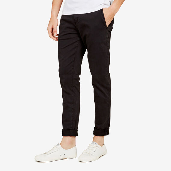 SLIM FIT STRETCH CHINO PANT  BLACK  hi-res