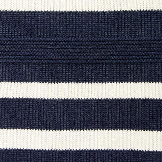 CAPITAL STRIPE CREW NECK KNIT  MARINE BLUE/ECRU  hi-res