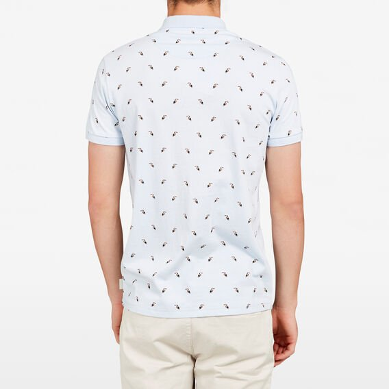 TOUCAN PRINTED POLO  SKY BLUE  hi-res