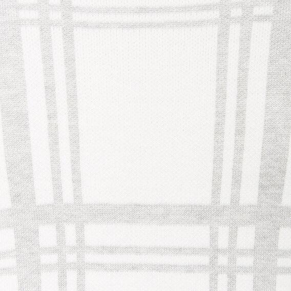WOODLANDS CHECK KNIT  SUM WHITE/GREY MARLE  hi-res
