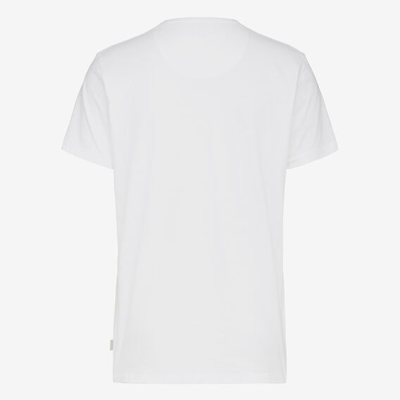 NO FCUKIN WORRIES CREW NECK T-SHIRT  WHITE/BLACK  hi-res
