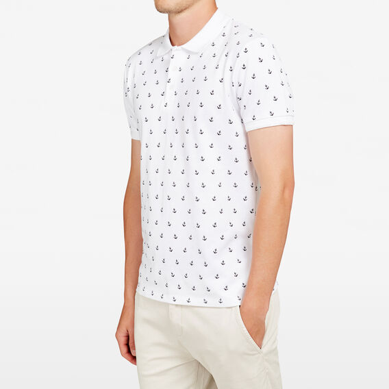 NAUTICAL ANCHOR POLO  WHITE  hi-res