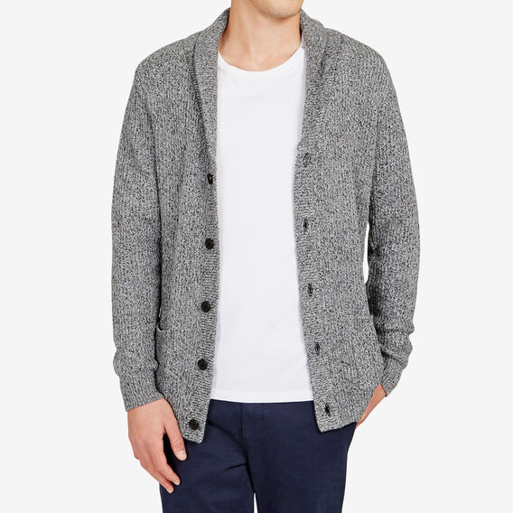 STARBOARD SHAWL NECK CARDIGAN  CHARCOAL  hi-res