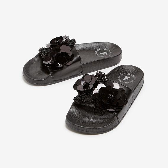 SPARKLE SLIDE  BLACK  hi-res