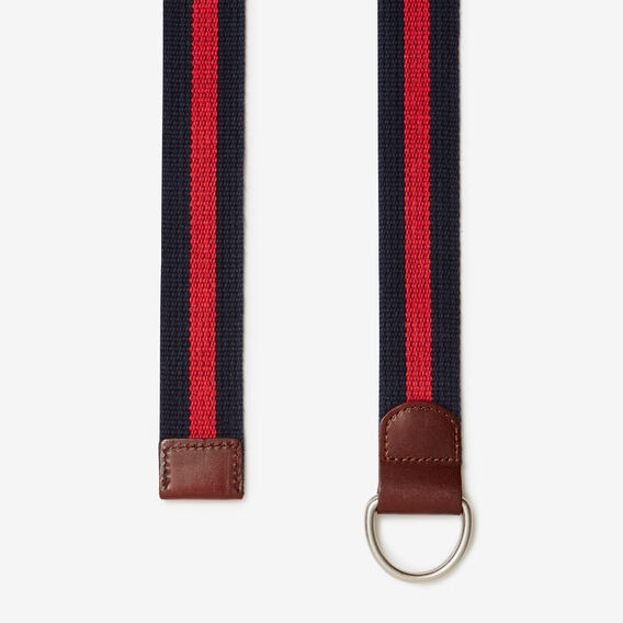 FLAMINGO STRIPE D-RING BELT  NAVY/MELON  hi-res