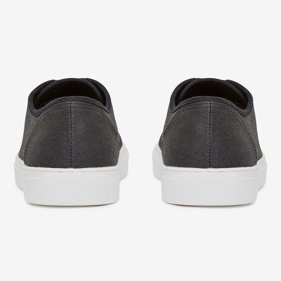 BLACK COMPASS COTTON SNEAKER  BLACK/WHITE  hi-res