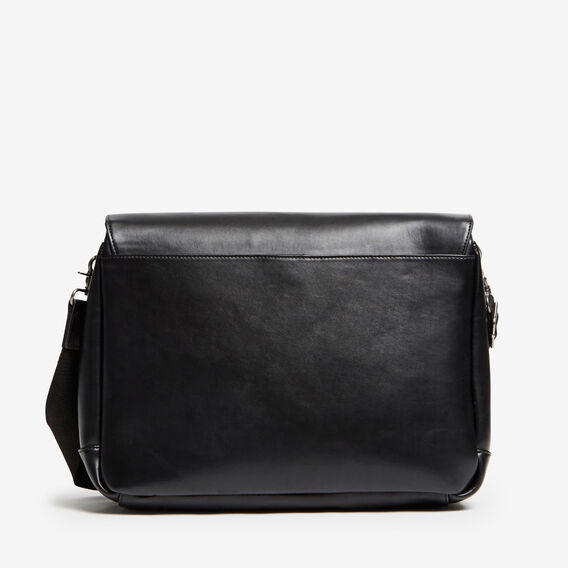 EXPLORER LEATHER LOOK MESSENGER  BLACK  hi-res
