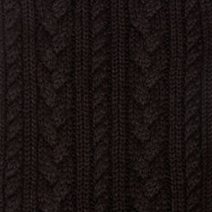 CABLE KNIT SCARF  BLACK  hi-res