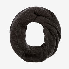 DUO KNIT CIRCULAR SCARF  DARK CHARCOAL  hi-res