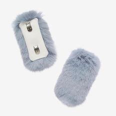 FAUX FUR SNEAKER ACCESSORY  ICEBURG BLUE  hi-res