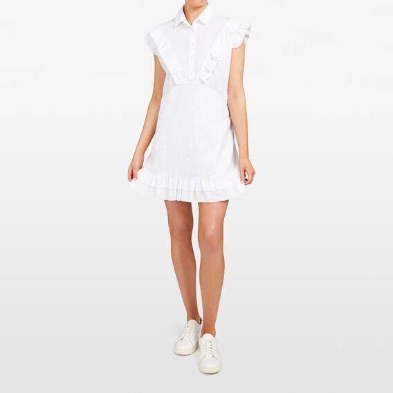 RUFFLE SHIRT DRESS  SUMMER WHITE  hi-res