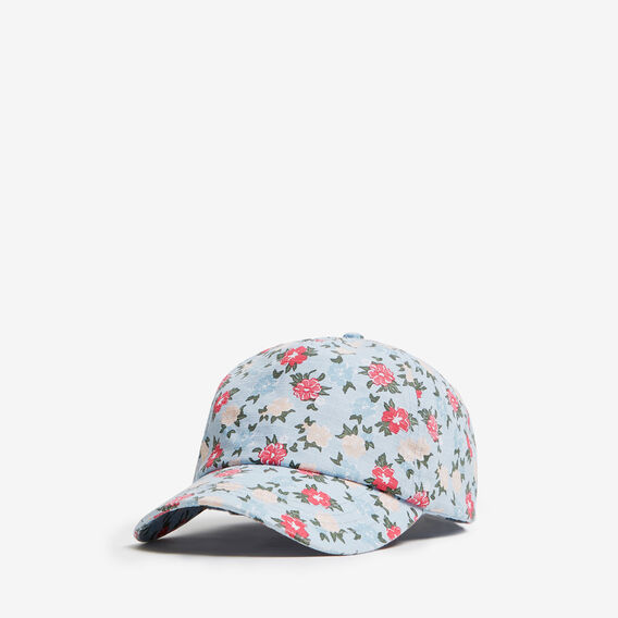 FLORAL PRINT CAP  LIGHT BLUE  hi-res