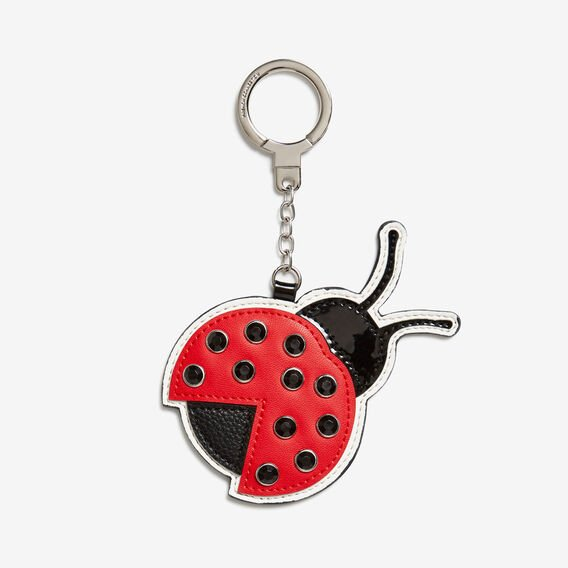 LADYBIRD MIRROR KEYRING  RED/BLACK  hi-res