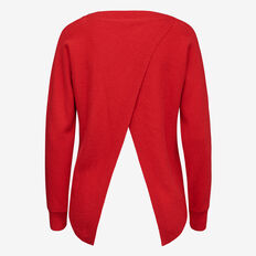 CHANNEL CROSS BACK KNIT  BRIGHT RED  hi-res