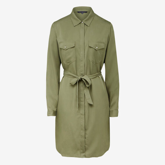 KEEP ME SIMPLE SHIRT DRESS  KHAKI  hi-res