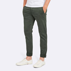 SLIM FIT STRETCH CHINO PANT  FOREST GREEN  hi-res