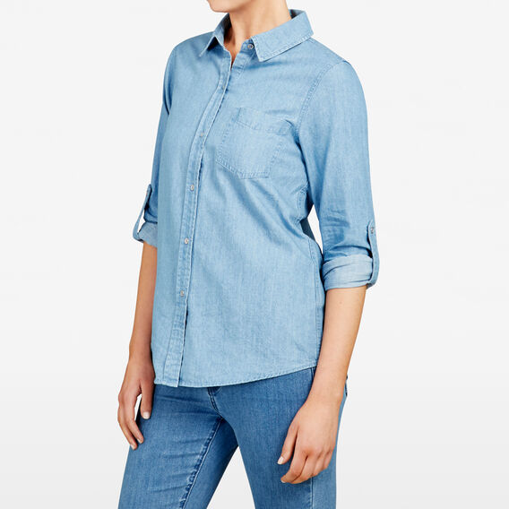 DENIM SHIRT  STONE WASH  hi-res