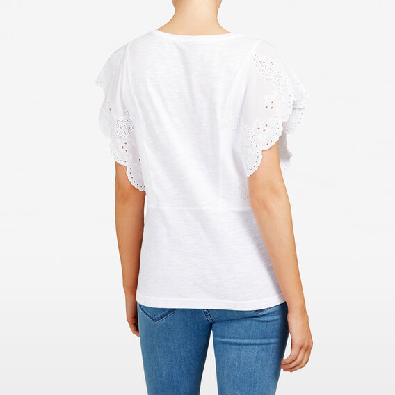 EMBROIDERED FRUIT TEE  SUMMER WHITE  hi-res