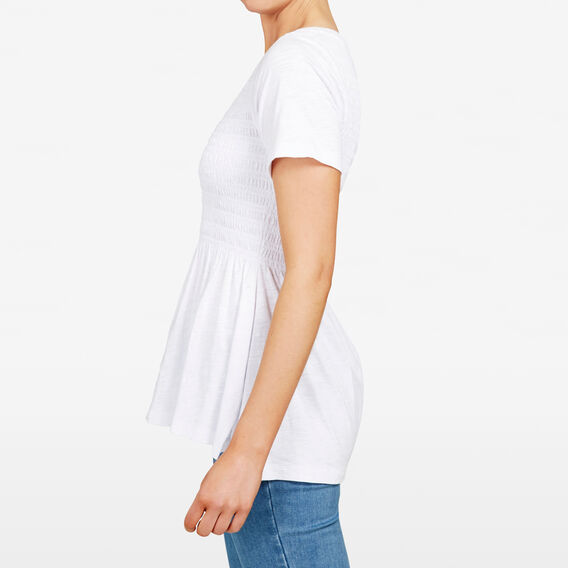 SHIRRED BUST TEE  SUMMER WHITE  hi-res