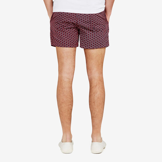 ANCHORED SWIM SHORT  NAVY/RED  hi-res