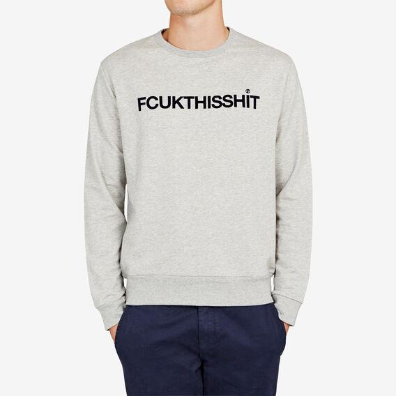 FCUKTHISSHIT CREW NECK SWEAT  SILVER MELANGE  hi-res