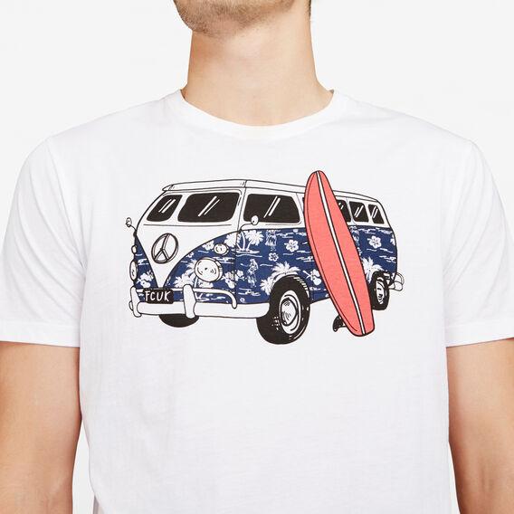 ROAD TRIP CREW NECK T-SHIRT  WHITE  hi-res