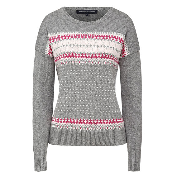 FLORENCE KNIT  GREY MEL/WILD ROSE M  hi-res
