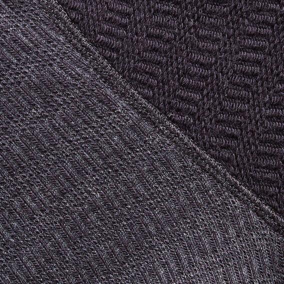 SHAWL NECK KNIT  CHARCOAL/OXFORD BLUE  hi-res