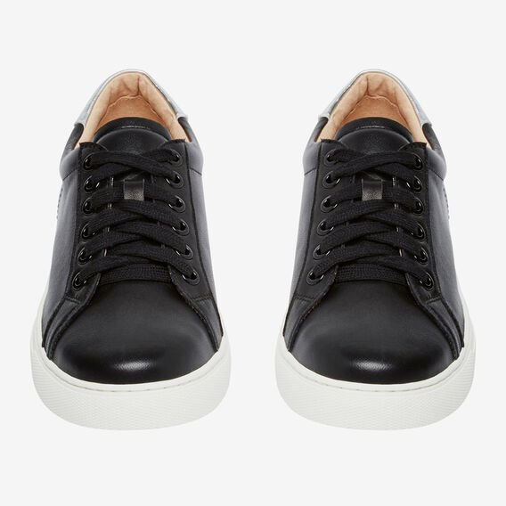 LEATHER SNEAKER  BLACK  hi-res