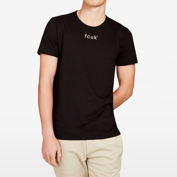 ORIGINAL FCUK LOGO CREW NECK T-SHIRT  BLACK  hi-res