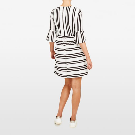 STRIPE DRESS  SUMMER WHITE/BLACK  hi-res