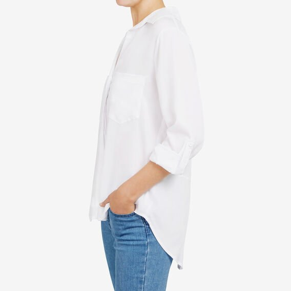 AUTUNM CORE BUTTON THR SHIRT  SUMMER WHITE  hi-res