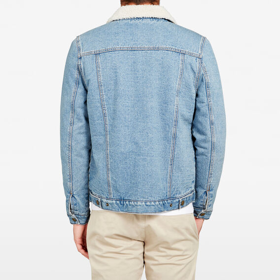 DENIM SHERPA JACKET  LIGHT VINTAGE  hi-res