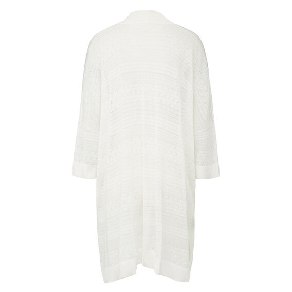 SLOUCHY KNIT CARDIGAN  SUMMER WHITE  hi-res
