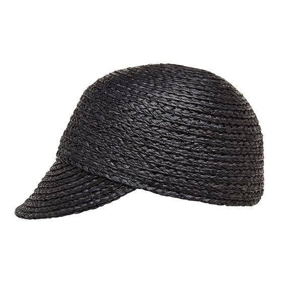 RAFFIA CAP  BLACK  hi-res