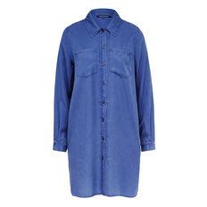 COBALT TENCEL DRESS  PRUSSIAN BLUE  hi-res