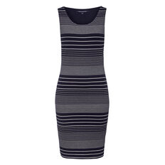 SAIL STRIPE LUREX DRESS  NOCTURNAL/SUMMER WHI  hi-res