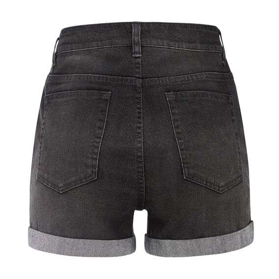 SPARKLE DENIM SHORT  BLACK/SILVER  hi-res