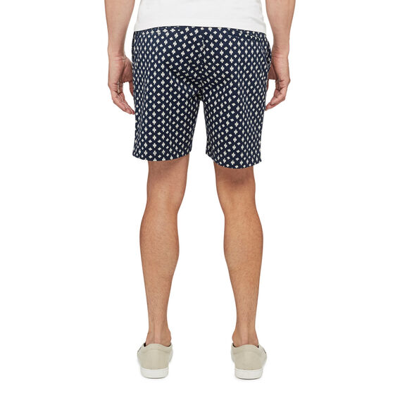 PRINTED WALK SHORT  OXFORD BLUE/WHITE  hi-res