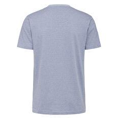 MINI BOTANICAL PRINT CREW NECK T-SHIRT  SOFT BLUE MELAANGE  hi-res